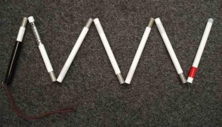 Bastone da segnalazione pieghevole Svarovsky in alluminio