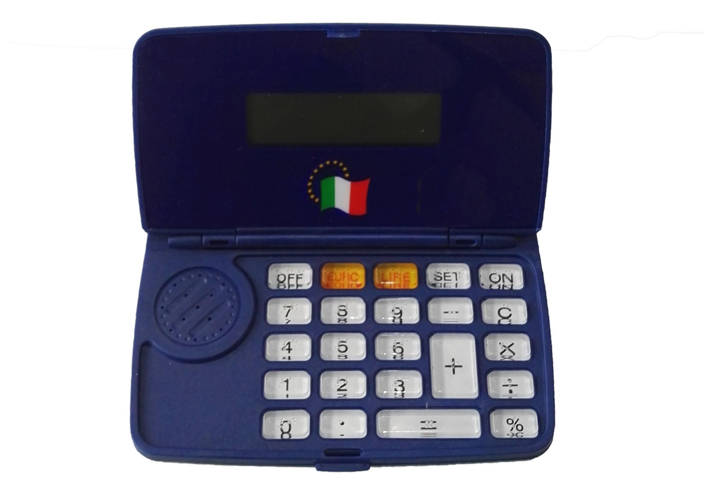 Calcolatrice tascabile parlante
