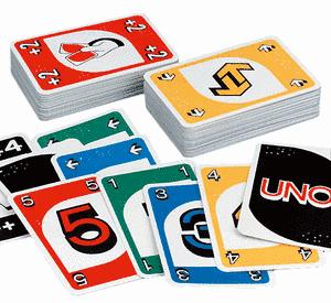 """Carte da gioco """"Uno"""" in braille"""