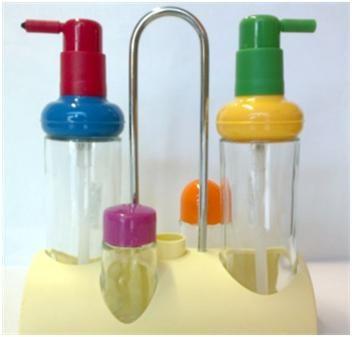 Dosatore olio e aceto con salino e pepino