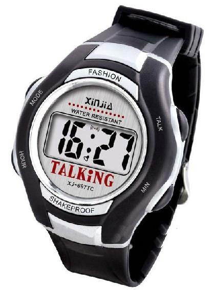 Orologio parlante in plastica