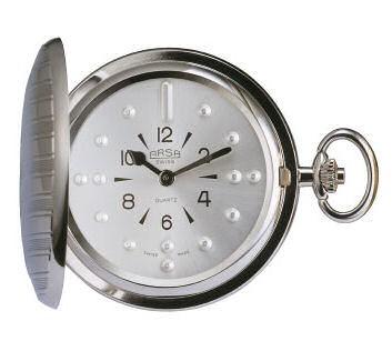 Orologio tattile da taschino cromato