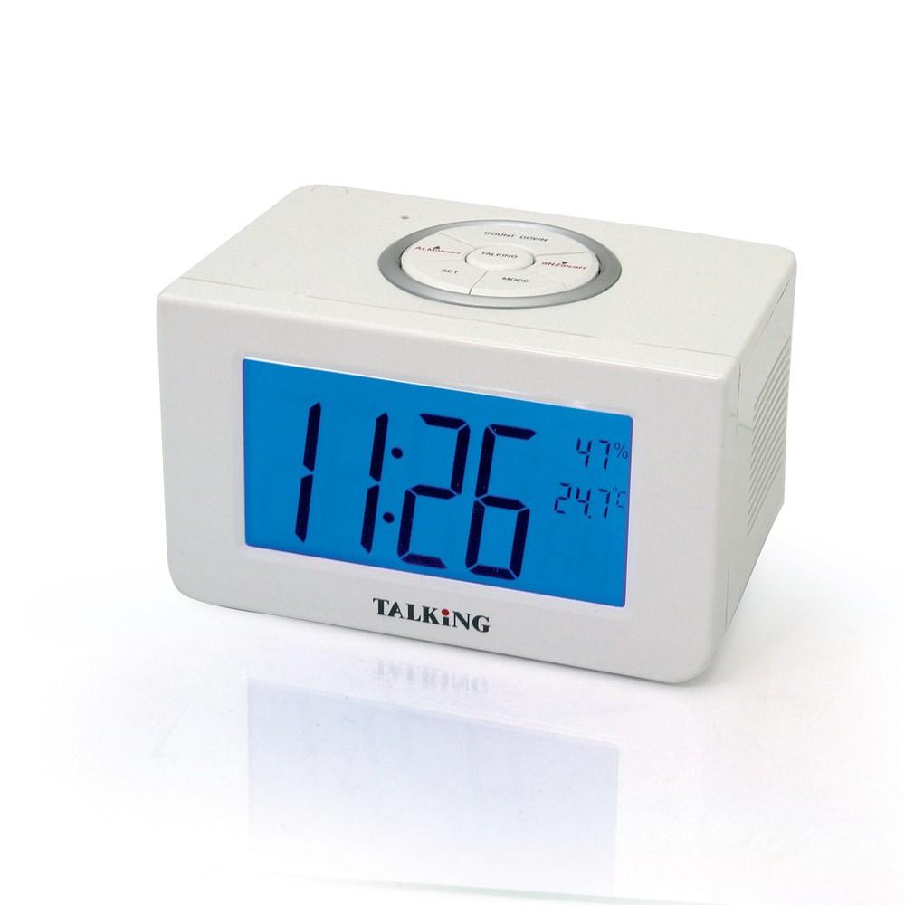 "Sveglia parlante ""Meteo"" con termometro ed igrometro"