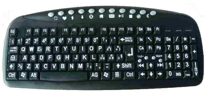 Tastiera a caratteri ingranditi per ipovedenti