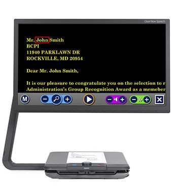 "Videoingranditore ClearView C Speech HD 24"" con sintesi vocale"